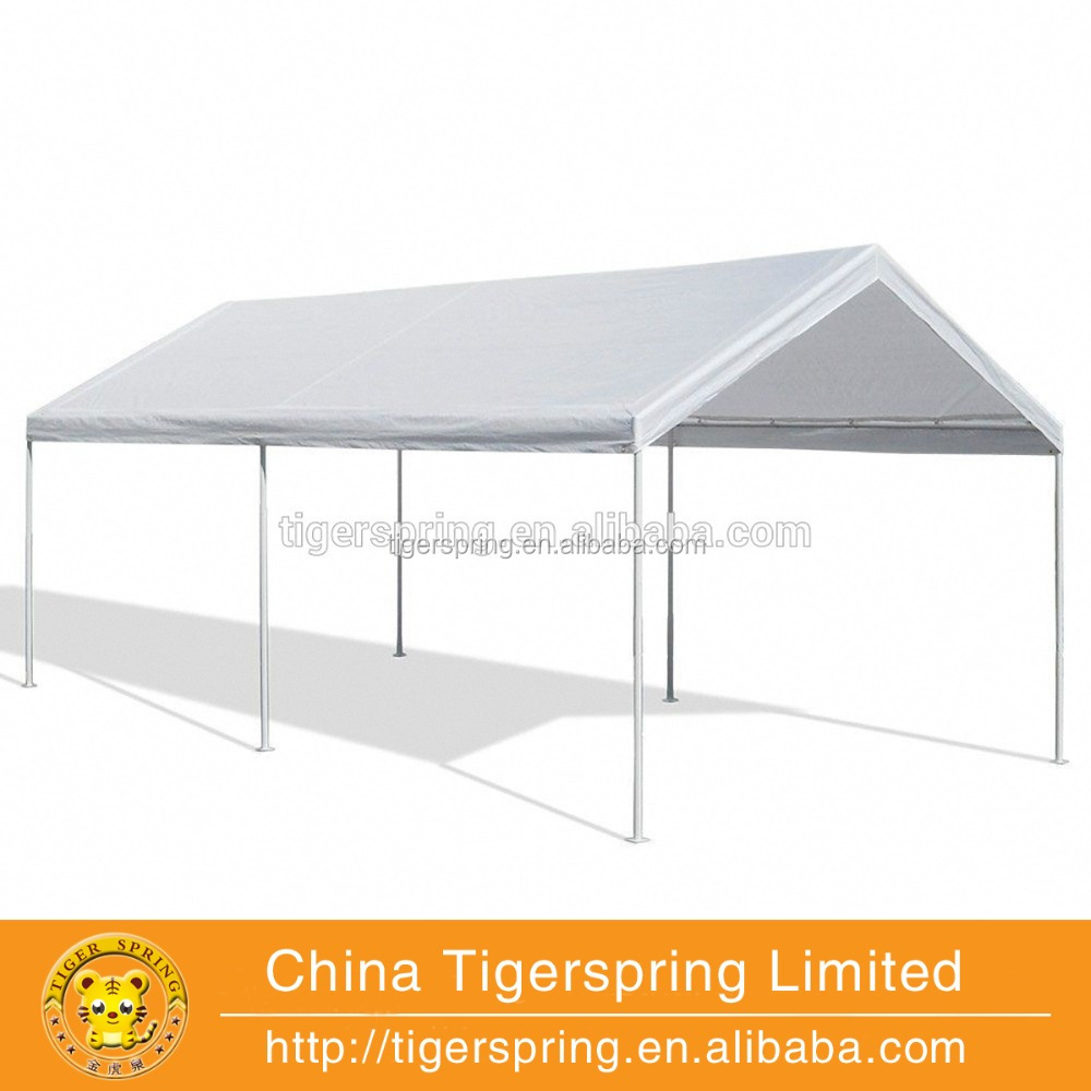 carports PE material 2 car parking canopy tent