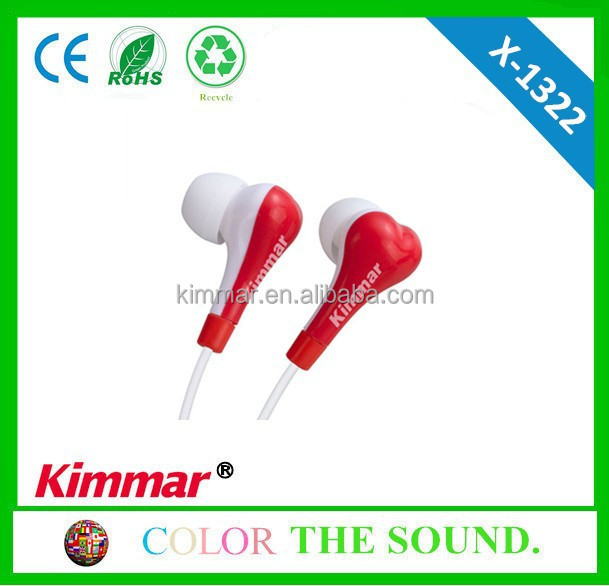 Bone like earphone with large space for logo