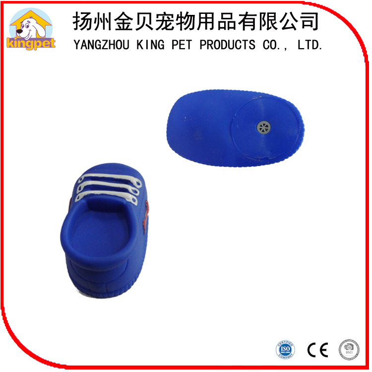 Eco friendly fashion pet training squeaky shoe shaped toy for dog