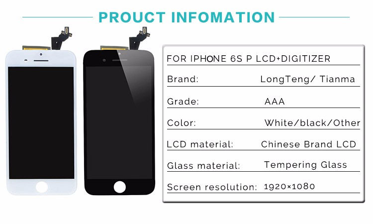 None Spot A+++ For iPhone 6s plus LCD Full Assembly with Screen Replacement Lens Pantalla Fast Shipping