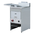 Floor Stand Stainless Steel Gas Fryer With Temperature Controller