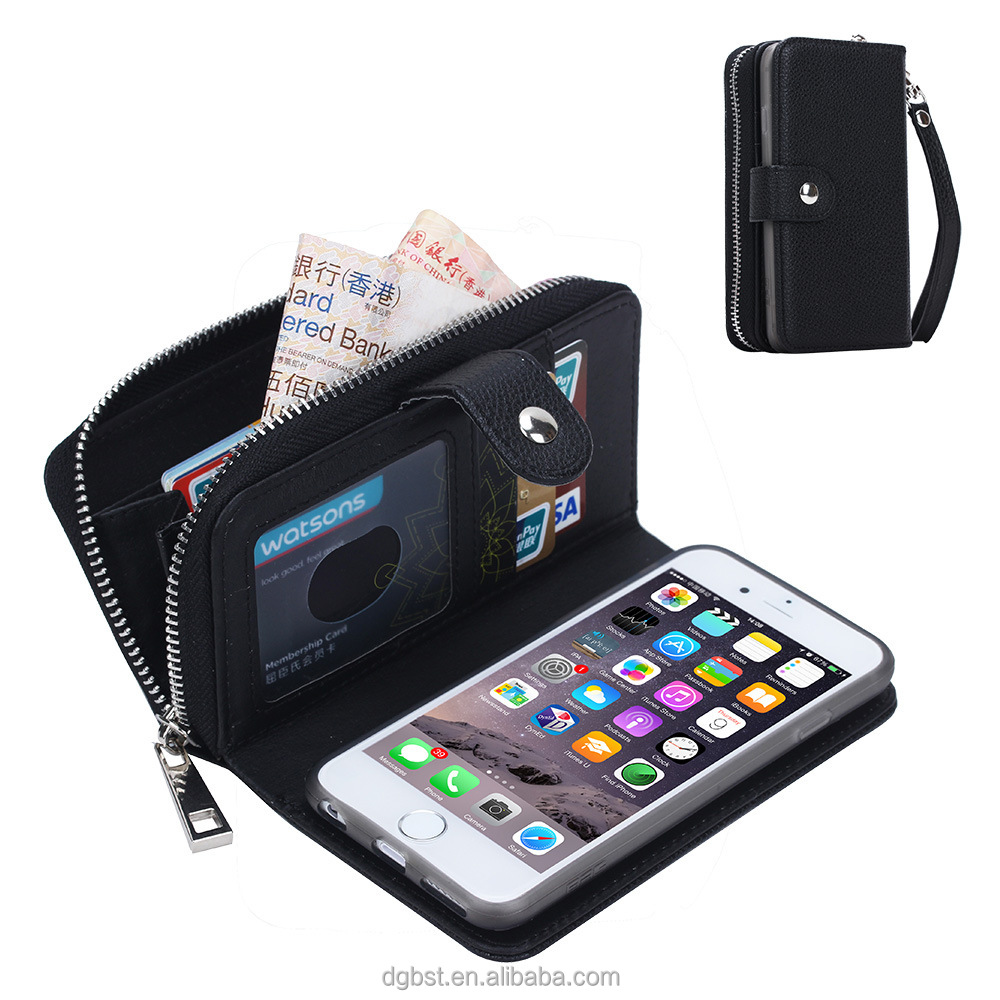 "China Market Wholesale Cell Phone Case 4.7 inch / Litchi Style For iphone 6 Case Wallet / 4.7"" inch PU Leather Mobile Phone Case"