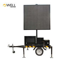 Outdoor Portable Mobile Solar Led Advertising Screen Display VMS Trailer Traffic Road Variable Message Signs Board