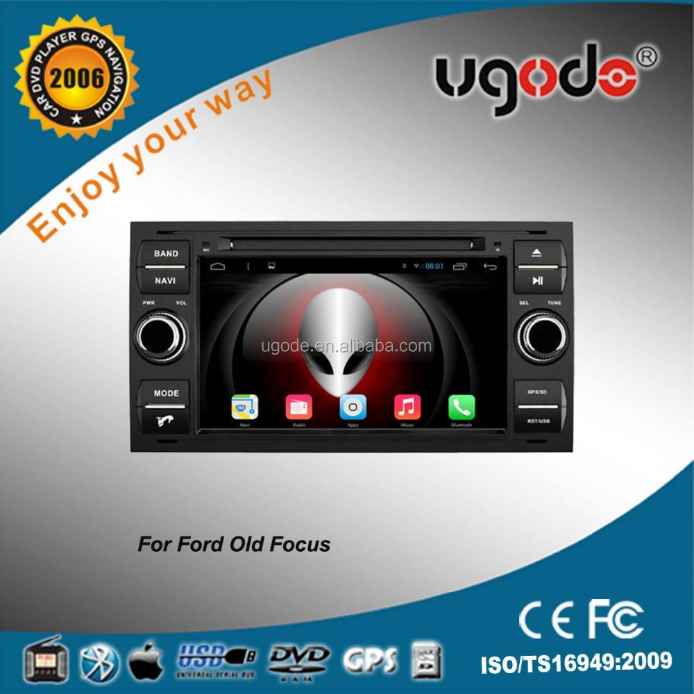 ugode top seller car audio with gps player quad core cpu for ford focus audio car