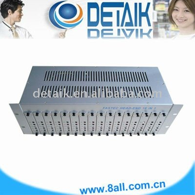 JM-50168 Silver CATV 16 in 1 Modulator intergrated combiner and amplifier (radio broadcast equipment)