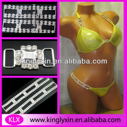 Three style a set of Rhinestone connector for Competition Bikini Suit LX-F83