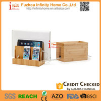 2015 new bamboo wooden charging docking station charger holder for phone