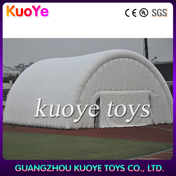 white pvc material inflatable big tent house for warehouse