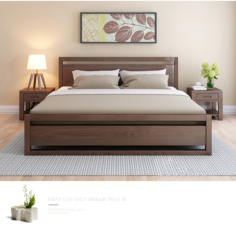 Mission Bedroom Furniture Queen Size Oak Solid Wooden Bed Solid Wood