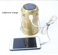 rechargeable solar power LED camping lantern with cellphone charge fuction
