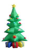 240cm/8ft five layers inflatable christmas tree with three gift bags under the tree for christmas decoration