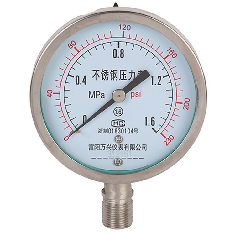 Stainless Steel Low Pressure Mpa PSI Bar Pressure Gauge Manometer