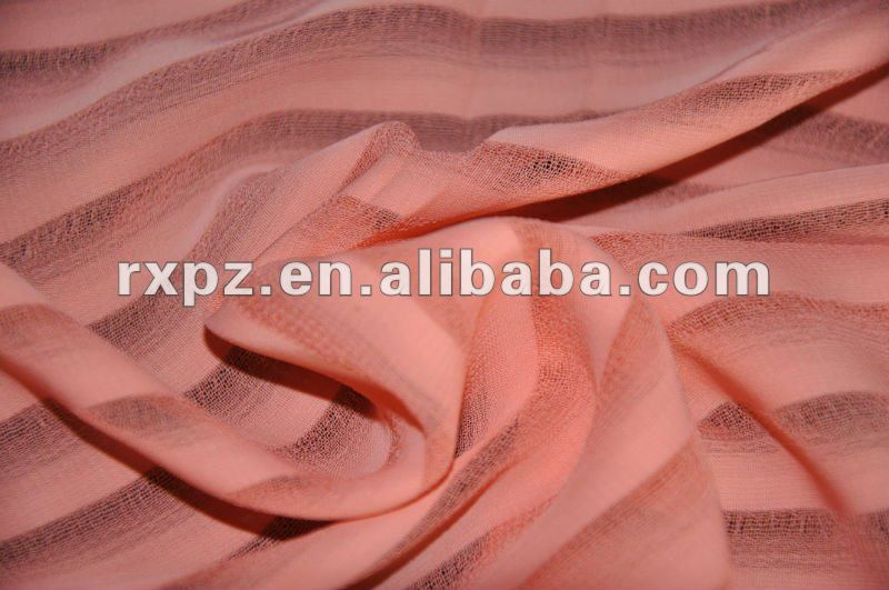 75D Polyester Stripe Chiffon Shadow stripes silk chiffon fabric prices