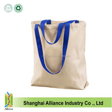 Wholesale heavy blank canvas shopping tote bags/Promotional cotton shoulder bags