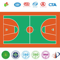 Silicon PU basketball court flooring outdoor & indoor sport floor