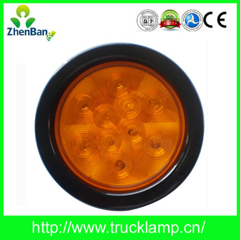 "E-MARK CERTIFICATE 4"" ROUND LED TRUCK TURN LIGHT (20-4014Y)"
