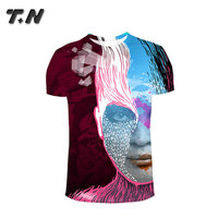 Professional custom printed sublimation tee shirt