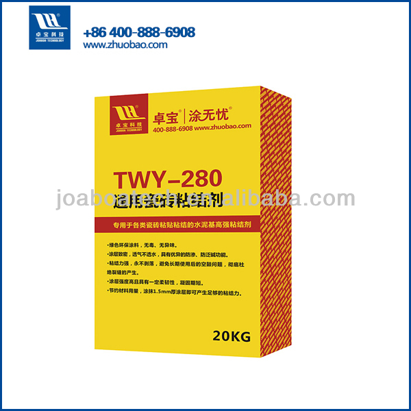 Waterproofing ceramic tiles adhesive