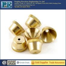 Nanjing high precision cnc knurled brass caps for bicycle parts