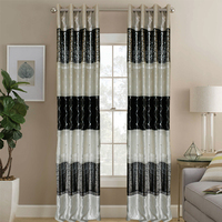 New year decoration high quality india home fashions black esd curtain