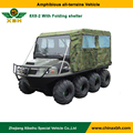 XBH 8X8-2 Standard amphibious vehicle with folding shelter 800cc 8 Wheel 4 Stroke ATV