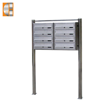 GH-S9F24 stainless steel combination mailbox