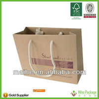 wine&gift brown paper bags wholesale