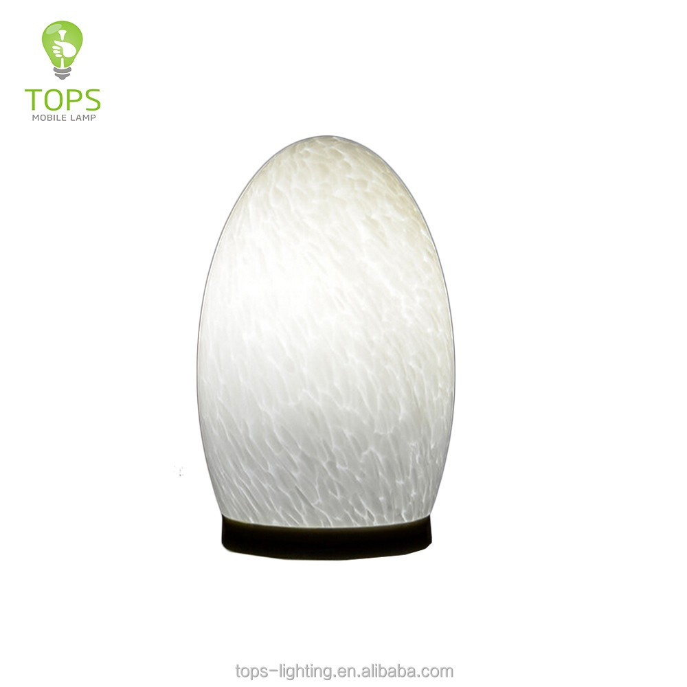 Alibaba golden china supplier egg shape handmade modern tall table lamps