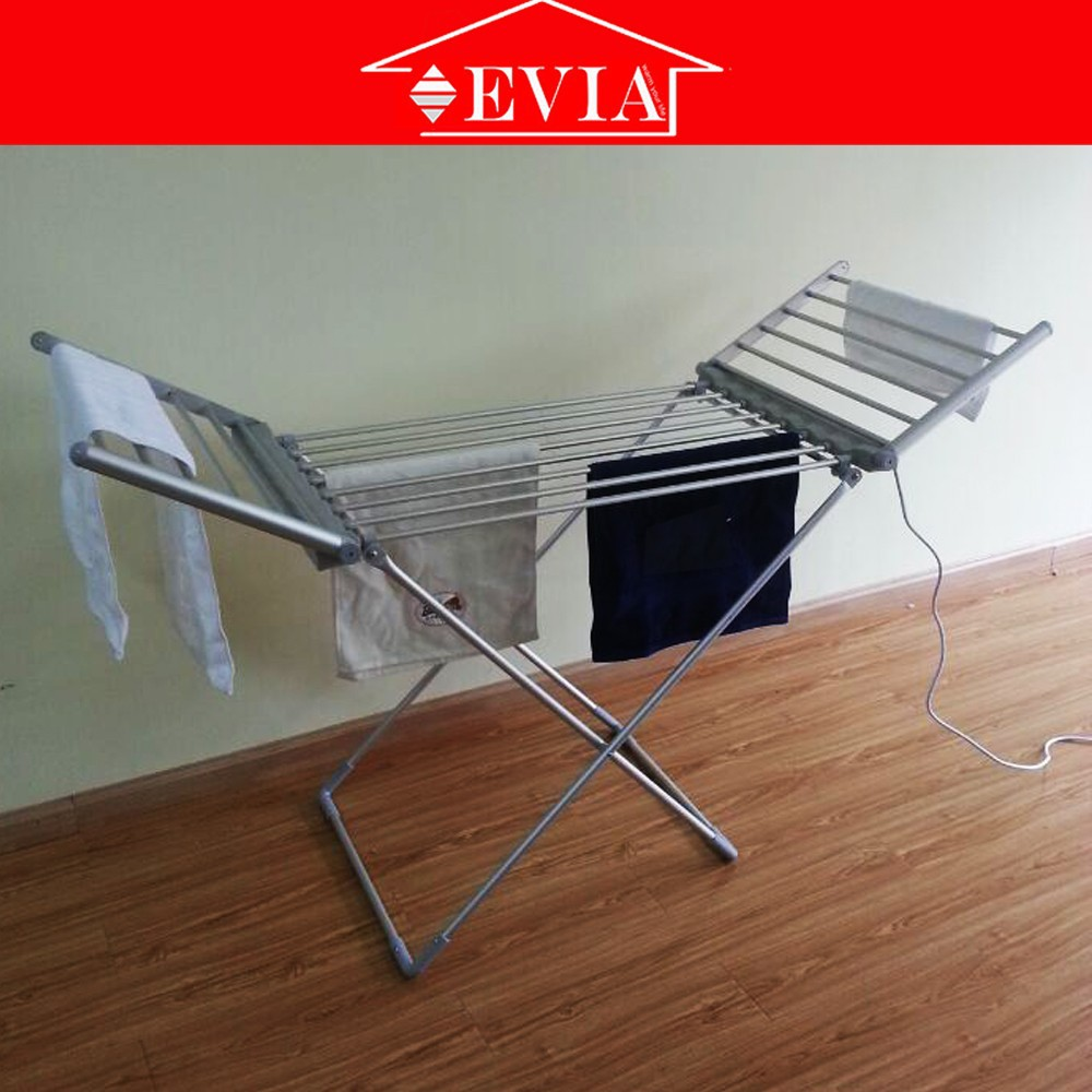 EVIA china online shopping aluminum electric heated clothes drying rack