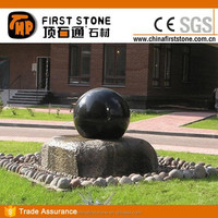 GAF370 Black Stone Round Ball Water Fountain