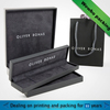 Black recyclable cardboard paper jewelry box jewelry packaging