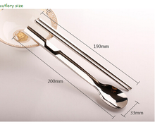 2018 new mental spoon and chopstic set Travel Cutlery set