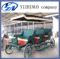 romantic antique three rows sightseeinghorse carriage supplier of China for display