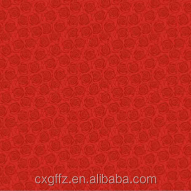 100% polyester brushed hometextile white fabric with simple printing