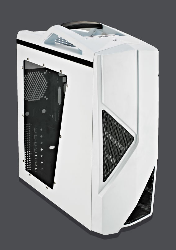New Gaming Computer Case with Water Cooling system 0.55mm SPCC with 8cm Color Fan In the Front