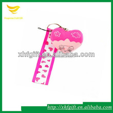 Short cute lanyard with small cartoon toy for phone