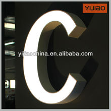 metal hotel door signs logo sign led front lit letter