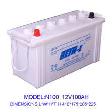 12V High quality 100AH Japan car battery N100 dry charge battery