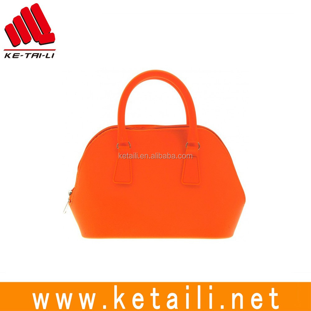 China supplier wholesale beautiful design fashion silicone rubber ladies handbag