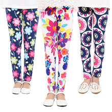 Custom Fashion Kids Clothing Girls Pants Printed Flower Leggings 2017