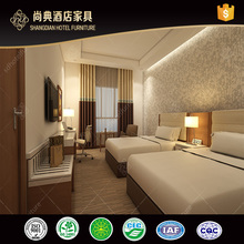 Modern Hotel Furniture Set Bedroom Bed Room Furniture Wood Double Bed Designs