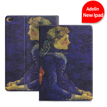 Retro Painting Premium Pu Leather Smart Case for Ipad Air, Folio Stand Cover Case for Ipad Air1 2, Literary Product