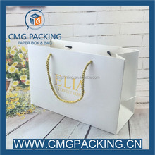 white card elegant cosmetic shopping bag paper