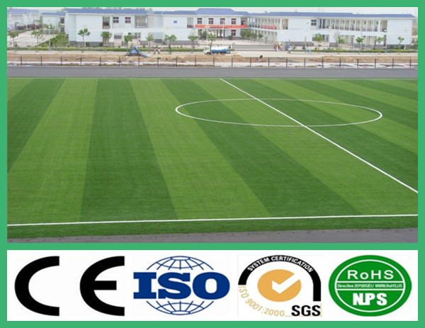 Fibrillated Artificial grass for sports