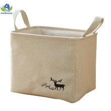 2018 Foldable Canvas Fabric Storage Basket Set With Handles