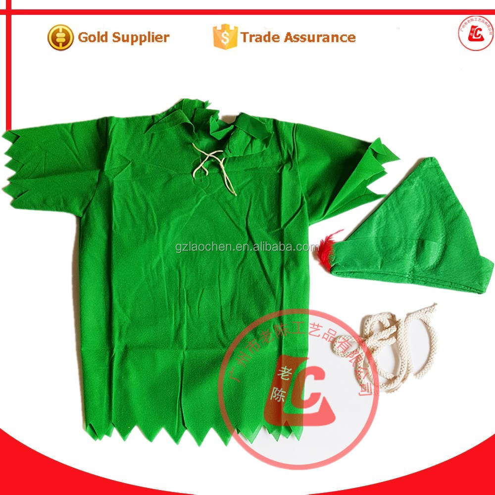 wholesale kids birthday party supplies dresses cosplay peter pan costume for child