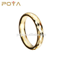POYA Jewelry Fashion CNC Jewelry Machine Wedding Ring 2-4mm Womens Multi Faceted High Polish Thin Tungsten Carbide Wedding Ring
