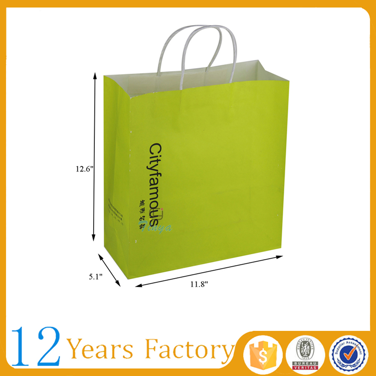 fancy paper twisted handle carrier bag