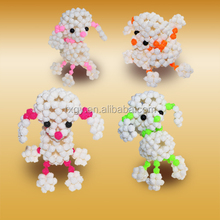 3D beadwork weaving dog children's toy for gift handmade acrylic beads made