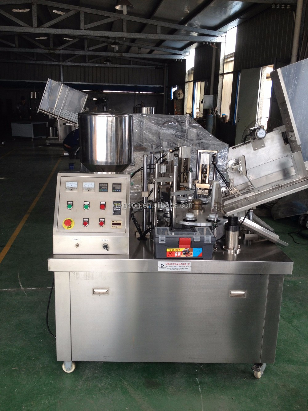 Factory Price Polishing Paste Thermoforming Sealing Toothpaste Tube Filling Machine